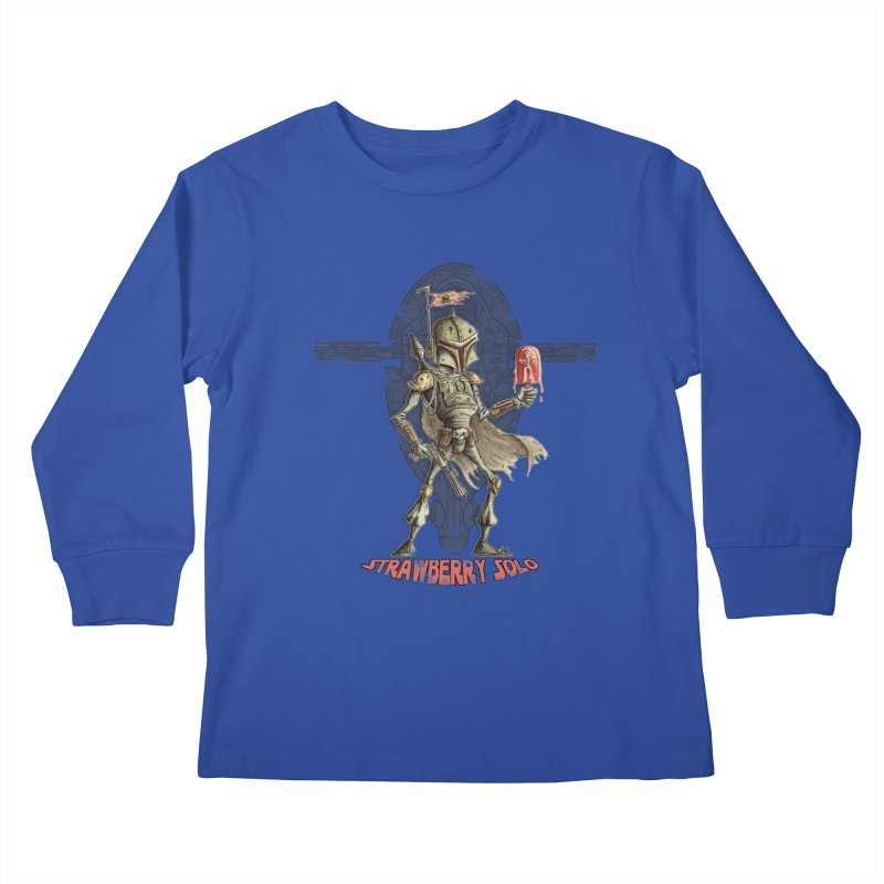 Strawberry Solo Kids Longsleeve T-Shirt by Pickled Circus