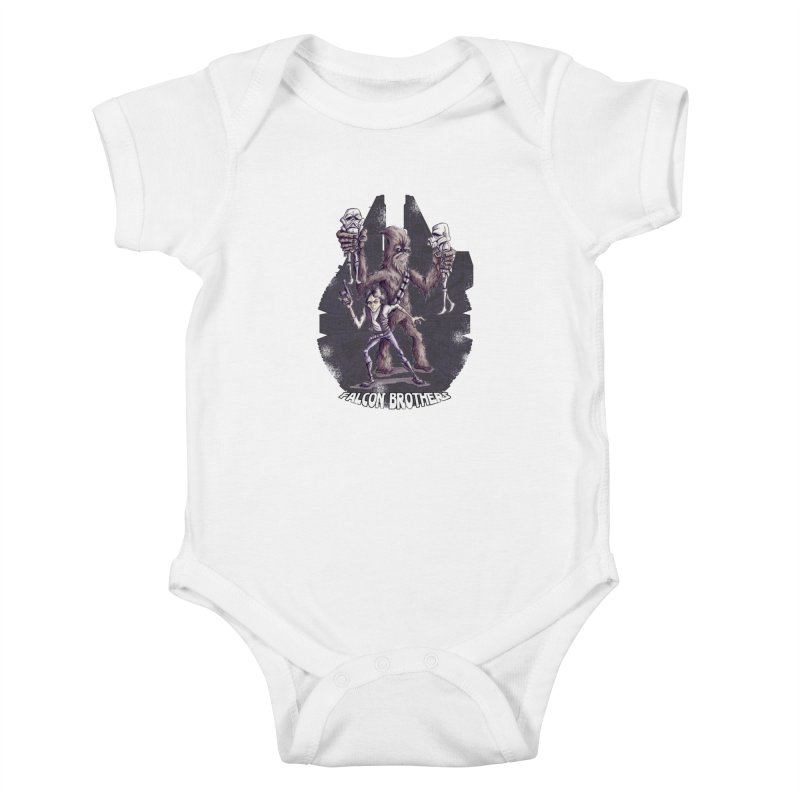 Falcon Brothers Kids Baby Bodysuit by Pickled Circus