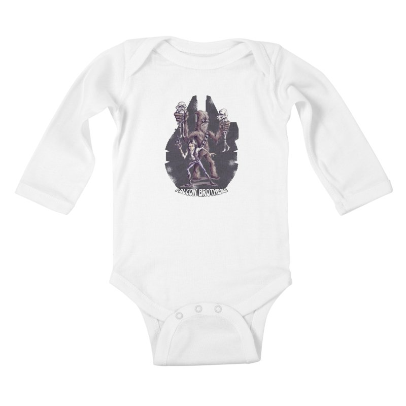 Falcon Brothers Kids Baby Longsleeve Bodysuit by Pickled Circus