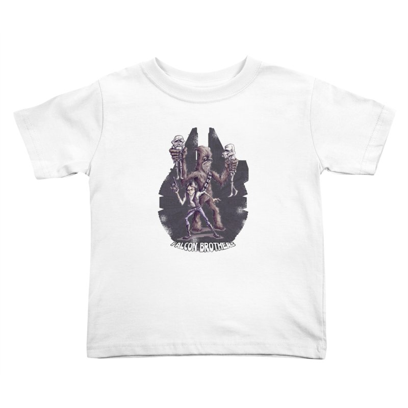 Falcon Brothers Kids Toddler T-Shirt by Pickled Circus