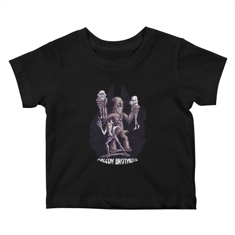 Falcon Brothers Kids Baby T-Shirt by Pickled Circus
