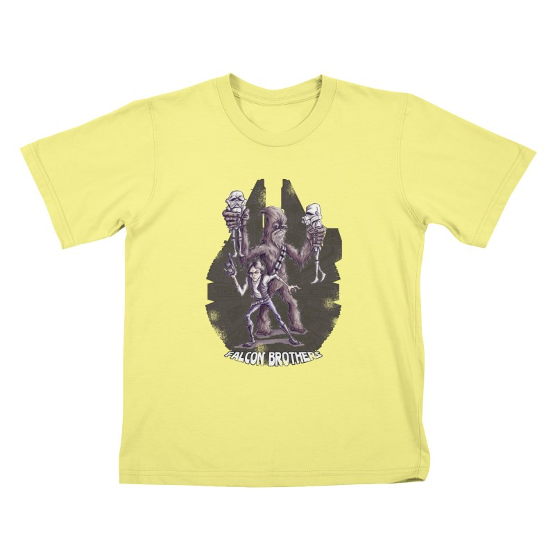Falcon Brothers Kids T-shirt by Pickled Circus