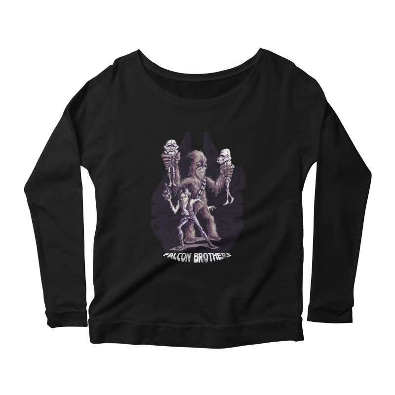 Falcon Brothers Women's Longsleeve Scoopneck  by Pickled Circus