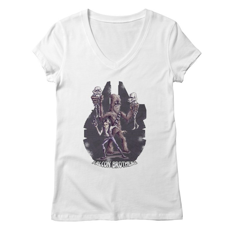 Falcon Brothers Women's V-Neck by Pickled Circus