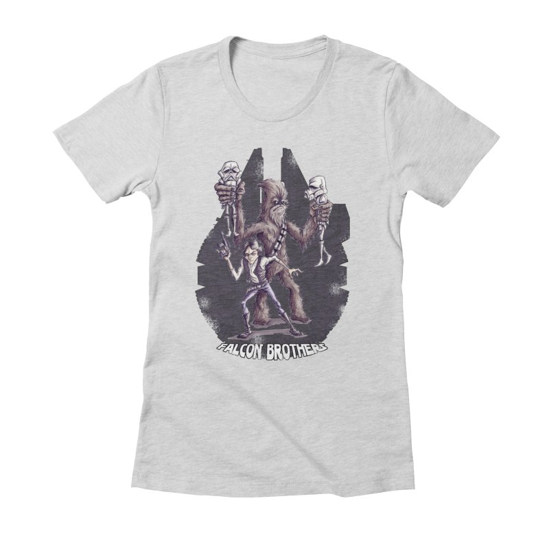 Falcon Brothers Women's Fitted T-Shirt by Pickled Circus