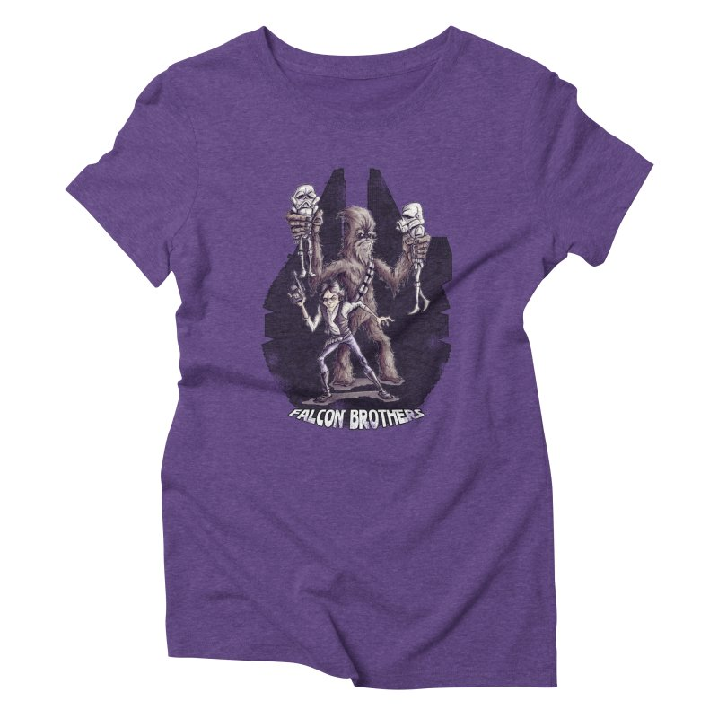 Falcon Brothers Women's Triblend T-Shirt by Pickled Circus