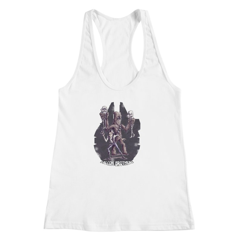 Falcon Brothers Women's Racerback Tank by Pickled Circus