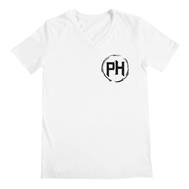 PH - chest ** Black ** Men's V-Neck by Piehouse Six's Shop