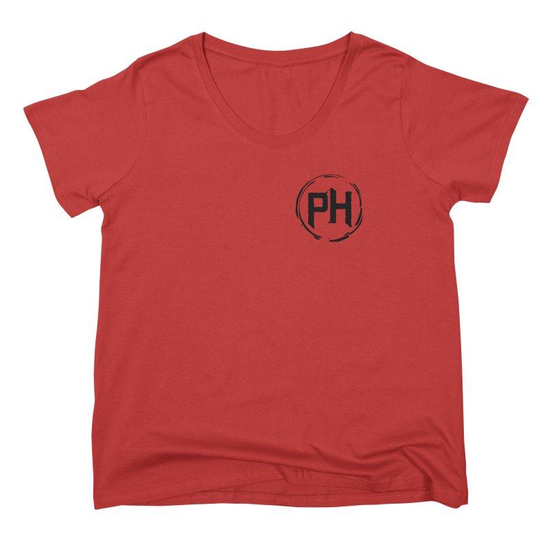 PH - chest ** Black ** Women's Scoop Neck by Piehouse Six's Shop