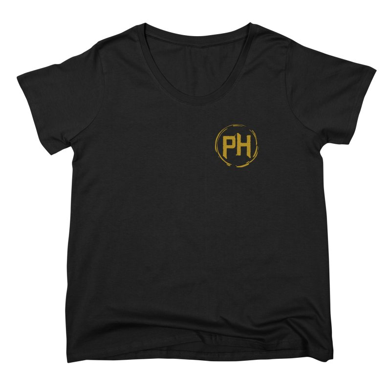 PH - chest ** Gold ** Women's Scoop Neck by Piehouse Six's Shop