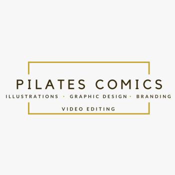 Pilates Comics Logo