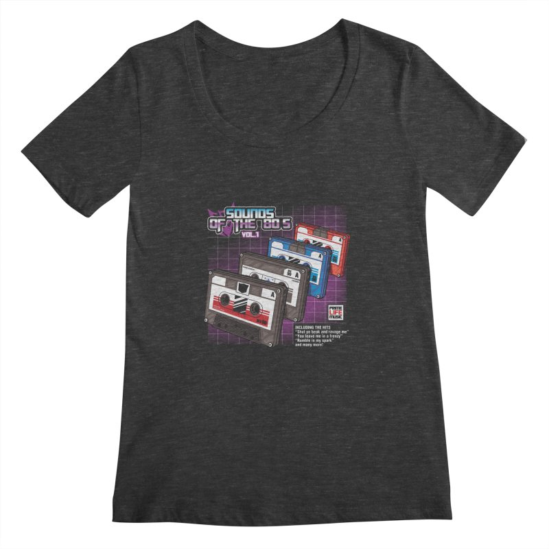 Sounds of the 80s vol. 1 Women's Scoopneck by Pinteezy's Artist Shop