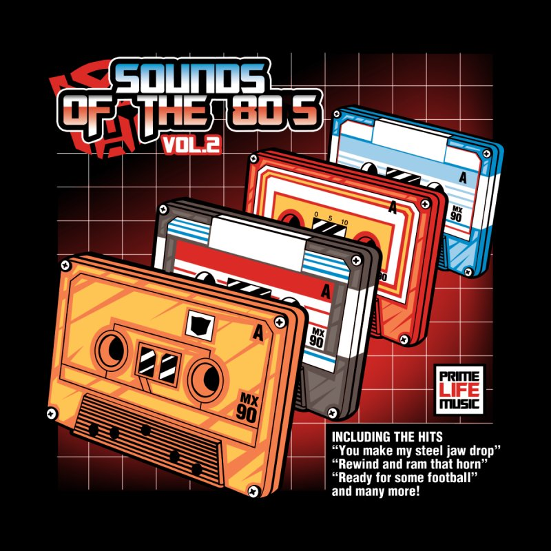 Sounds of the 80s Vol. 2 Women's V-Neck by Pinteezy's Artist Shop