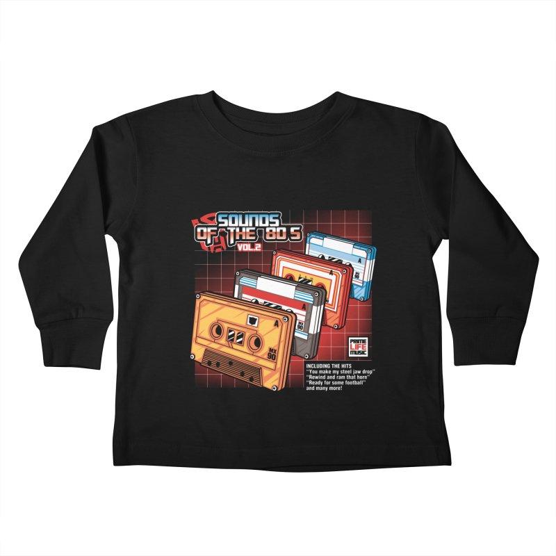 Sounds of the 80s Vol. 2 Kids Toddler Longsleeve T-Shirt by Pinteezy's Artist Shop