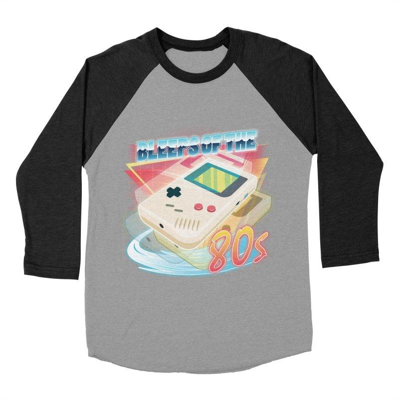 Bleeps of the 80s Men's Baseball Triblend T-Shirt by Pinteezy's Artist Shop
