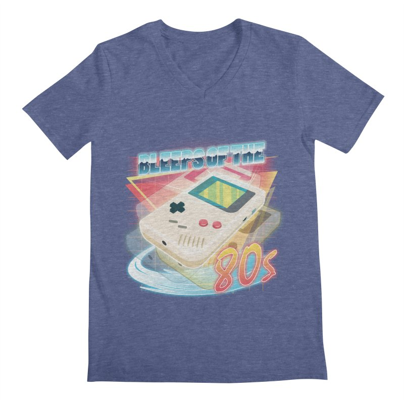 Bleeps of the 80s Men's V-Neck by Pinteezy's Artist Shop