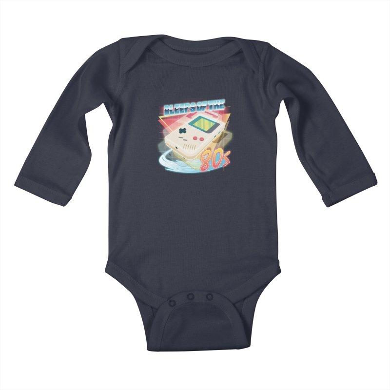 Bleeps of the 80s Kids Baby Longsleeve Bodysuit by Pinteezy's Artist Shop