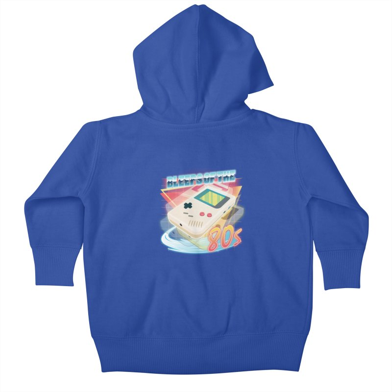Bleeps of the 80s Kids Baby Zip-Up Hoody by Pinteezy's Artist Shop