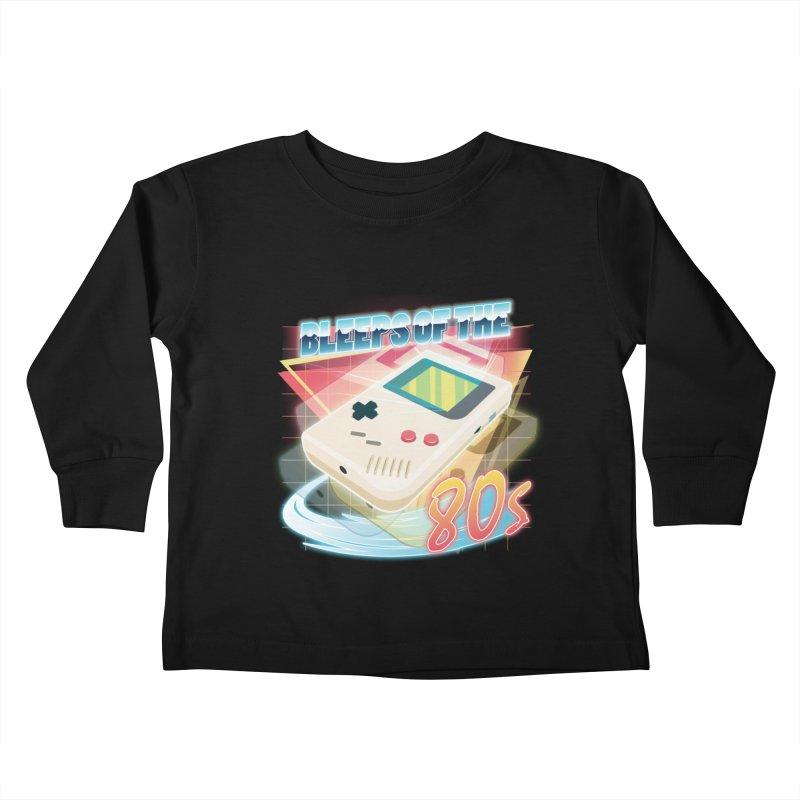 Bleeps of the 80s Kids Toddler Longsleeve T-Shirt by Pinteezy's Artist Shop