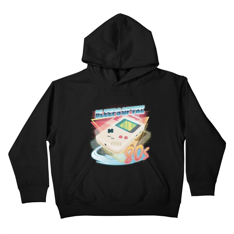 Bleeps of the 80s Kids Pullover Hoody by Pinteezy's Artist Shop
