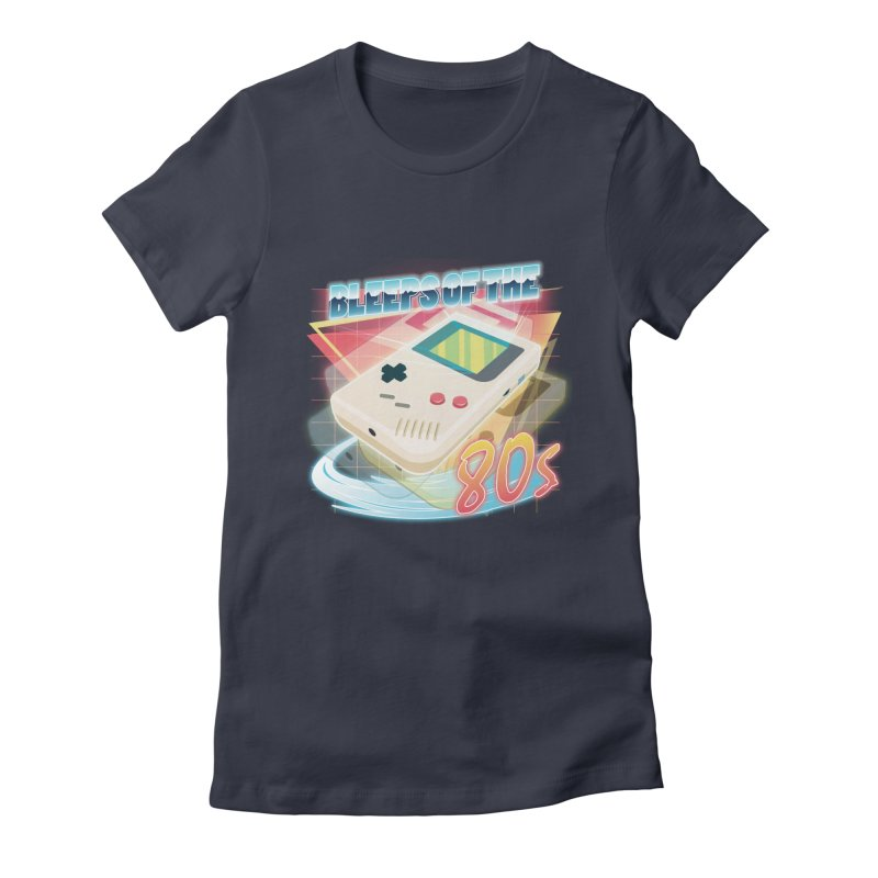Bleeps of the 80s Women's Fitted T-Shirt by Pinteezy's Artist Shop