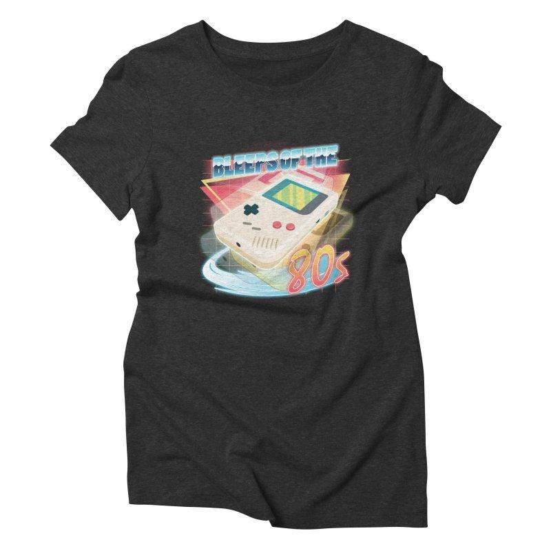 Bleeps of the 80s Women's Triblend T-shirt by Pinteezy's Artist Shop