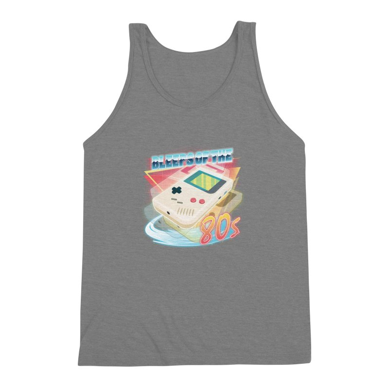 Bleeps of the 80s Men's Triblend Tank by Pinteezy's Artist Shop