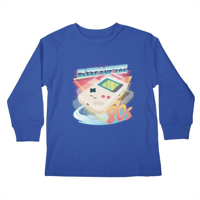 Bleeps of the 80s Kids Longsleeve T-Shirt by Pinteezy's Artist Shop