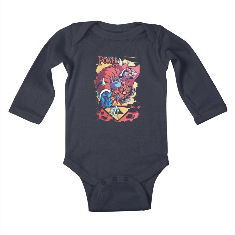 The Legend Of Power Kids Baby Longsleeve Bodysuit by Pinteezy's Artist Shop