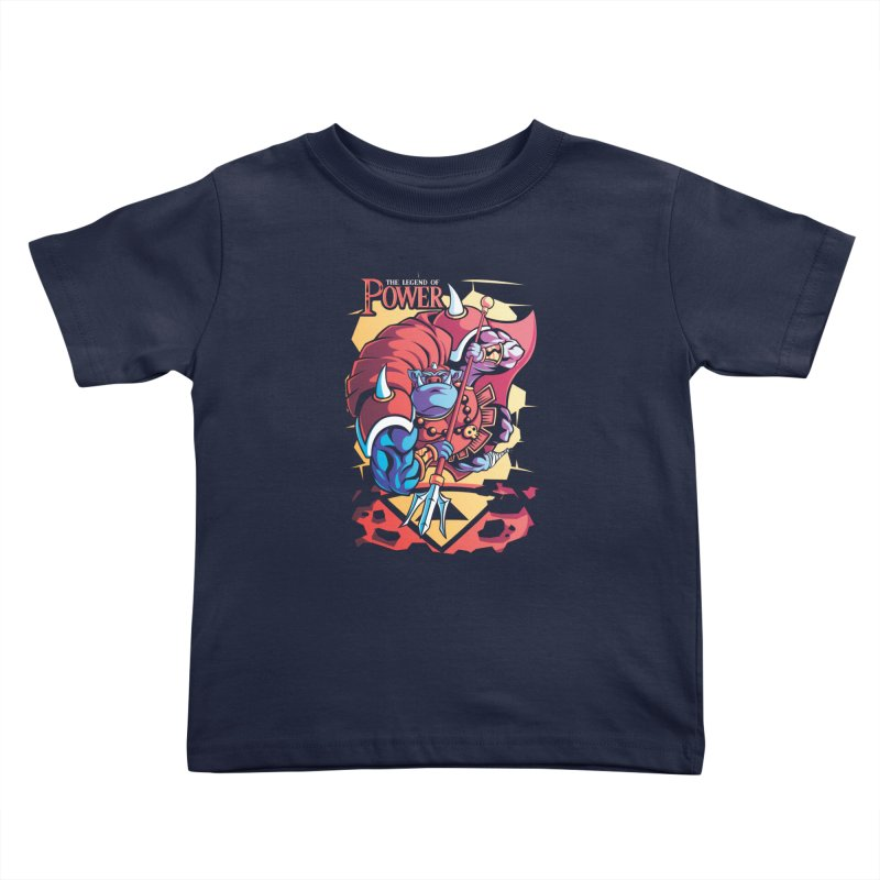 The Legend Of Power Kids Toddler T-Shirt by Pinteezy's Artist Shop