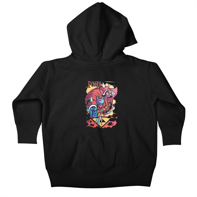 The Legend Of Power Kids Baby Zip-Up Hoody by Pinteezy's Artist Shop