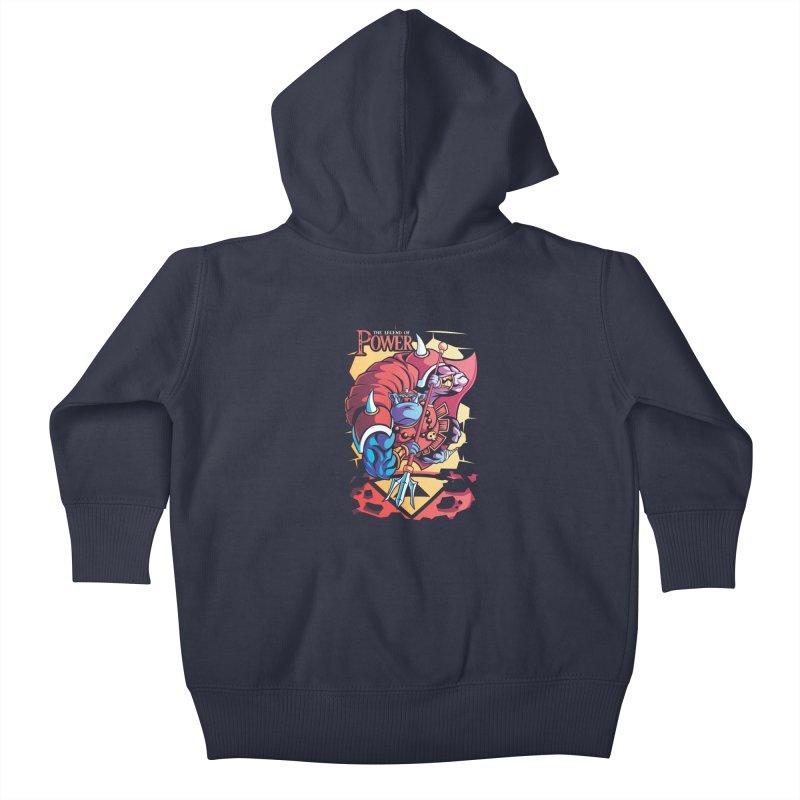 The Legend Of Power Kids Baby Zip-Up Hoody by Pinteezy's Artist Shop