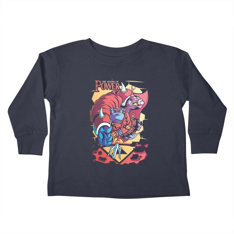 The Legend Of Power Kids Toddler Longsleeve T-Shirt by Pinteezy's Artist Shop