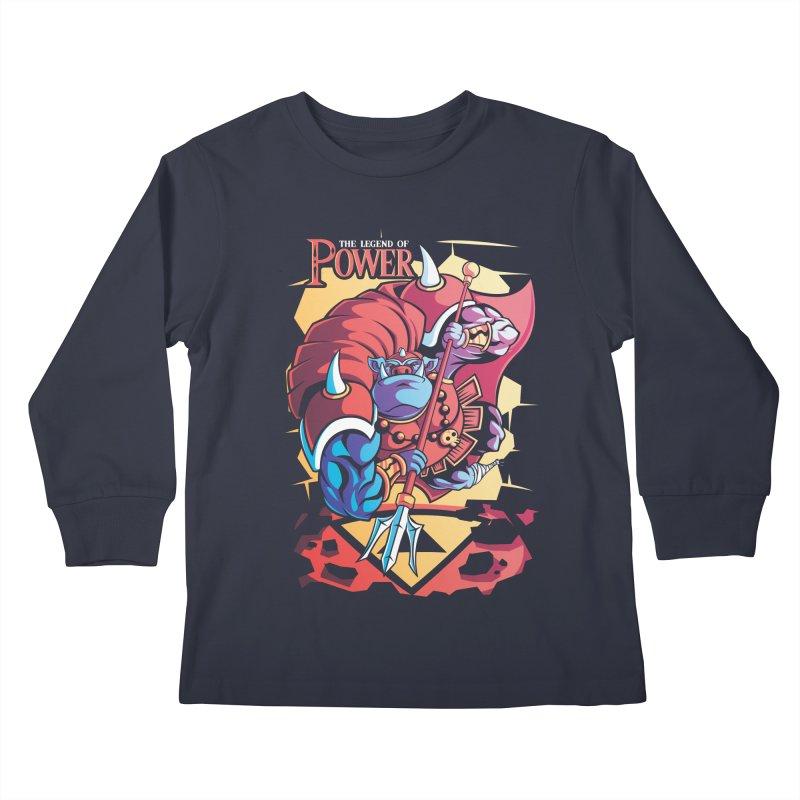 The Legend Of Power Kids Longsleeve T-Shirt by Pinteezy's Artist Shop
