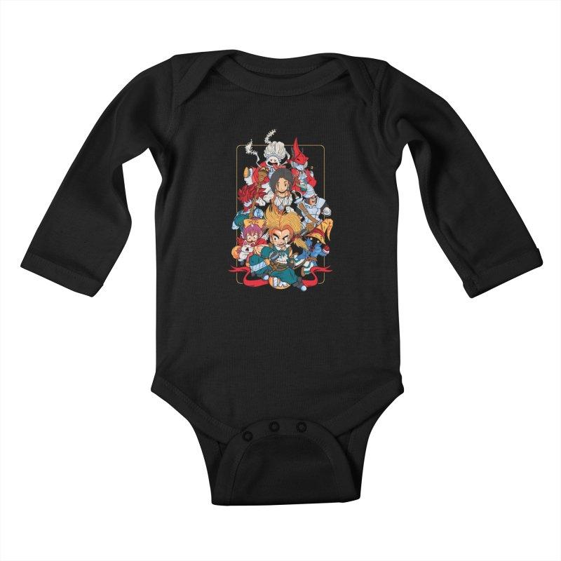 Fantasy Quest IX Kids Baby Longsleeve Bodysuit by Pinteezy's Artist Shop