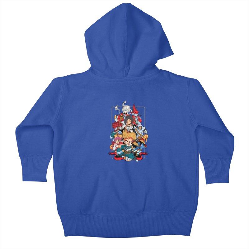 Fantasy Quest IX Kids Baby Zip-Up Hoody by Pinteezy's Artist Shop