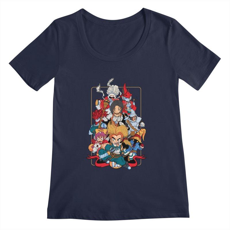 Fantasy Quest IX Women's Scoopneck by Pinteezy's Artist Shop