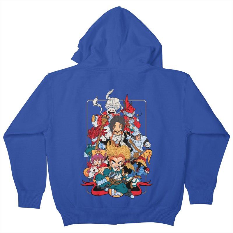 Fantasy Quest IX Kids Zip-Up Hoody by Pinteezy's Artist Shop