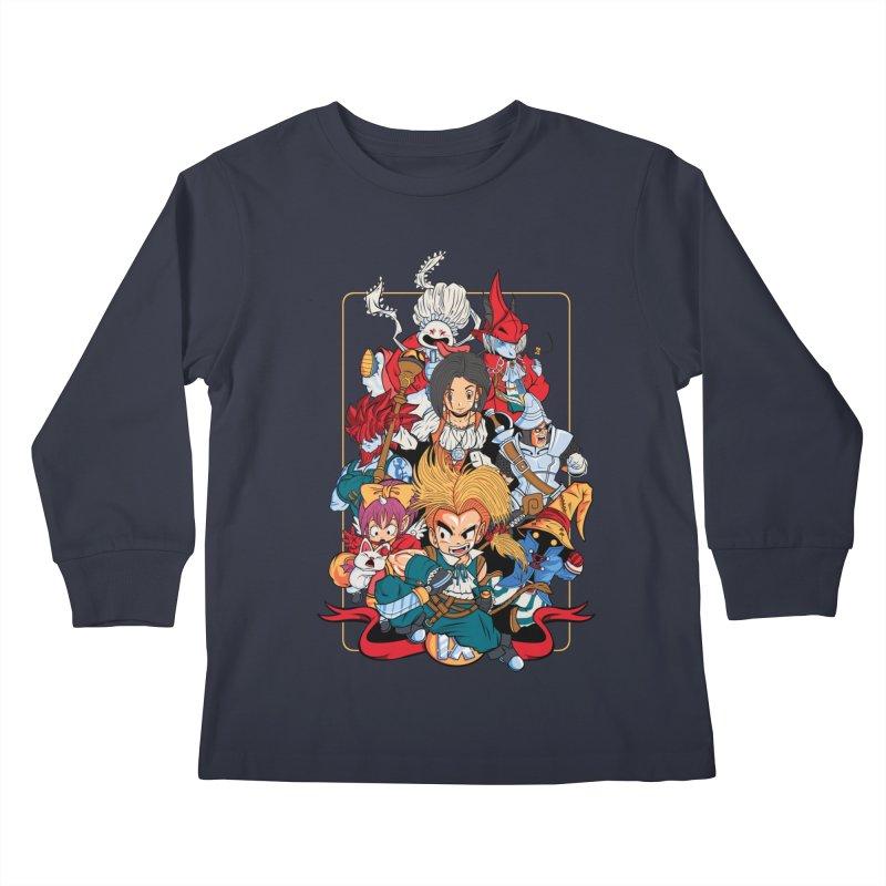 Fantasy Quest IX Kids Longsleeve T-Shirt by Pinteezy's Artist Shop