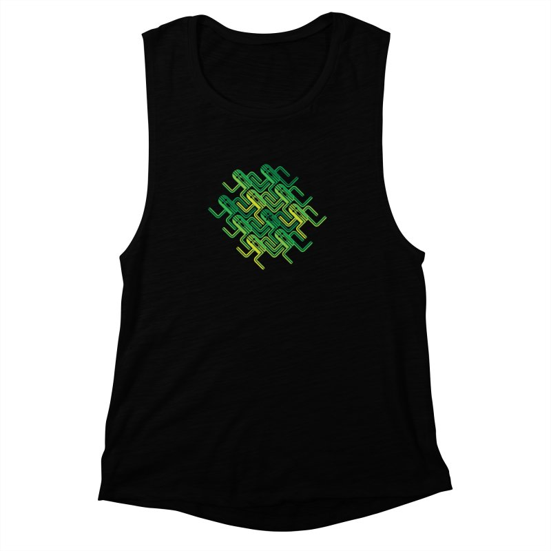 10000 Needles Women's Muscle Tank by Pinteezy's Artist Shop