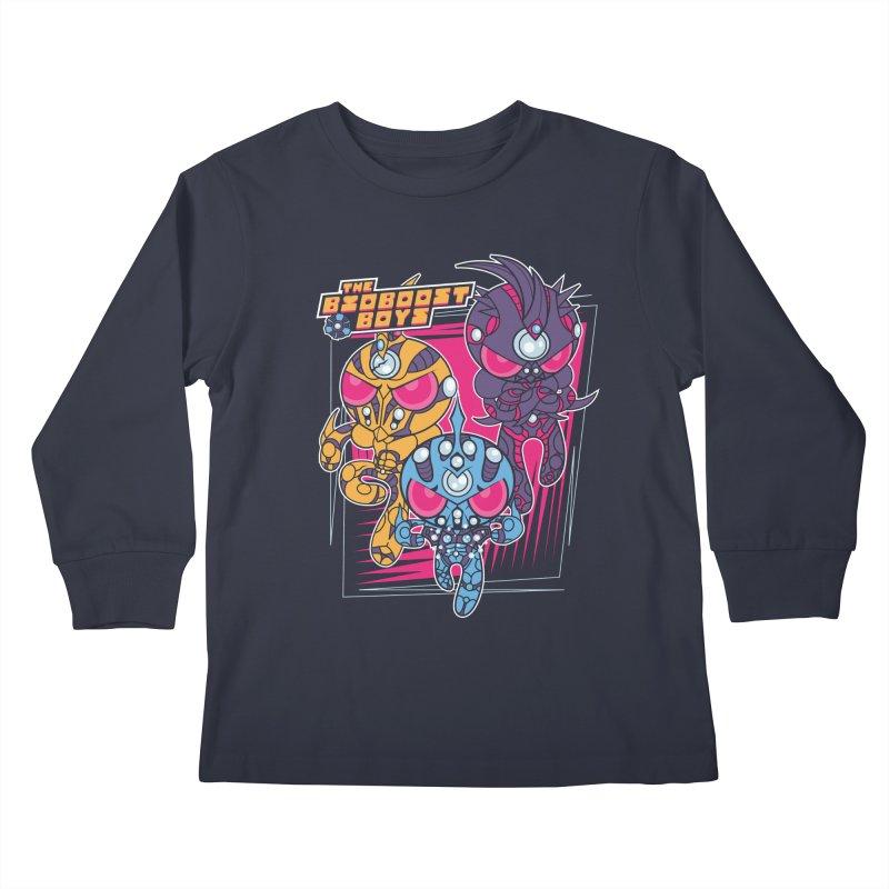 Bio Boost Boys Kids Longsleeve T-Shirt by Pinteezy's Artist Shop