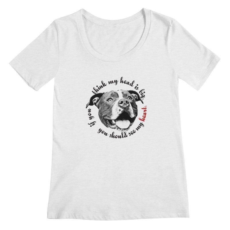 Beefy Bull Women's Regular Scoop Neck by Pittie Chicks