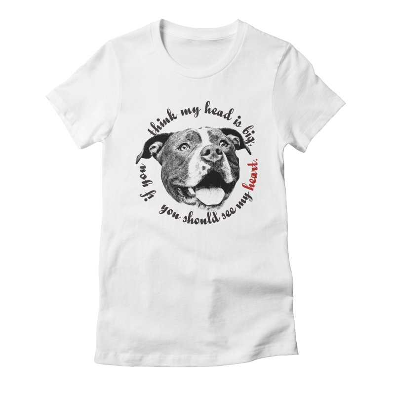 Beefy Bull Women's Fitted T-Shirt by Pittie Chicks