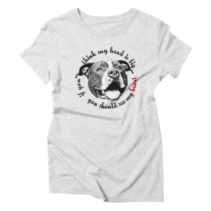 Beefy Bull Women's Triblend T-Shirt by Pittie Chicks