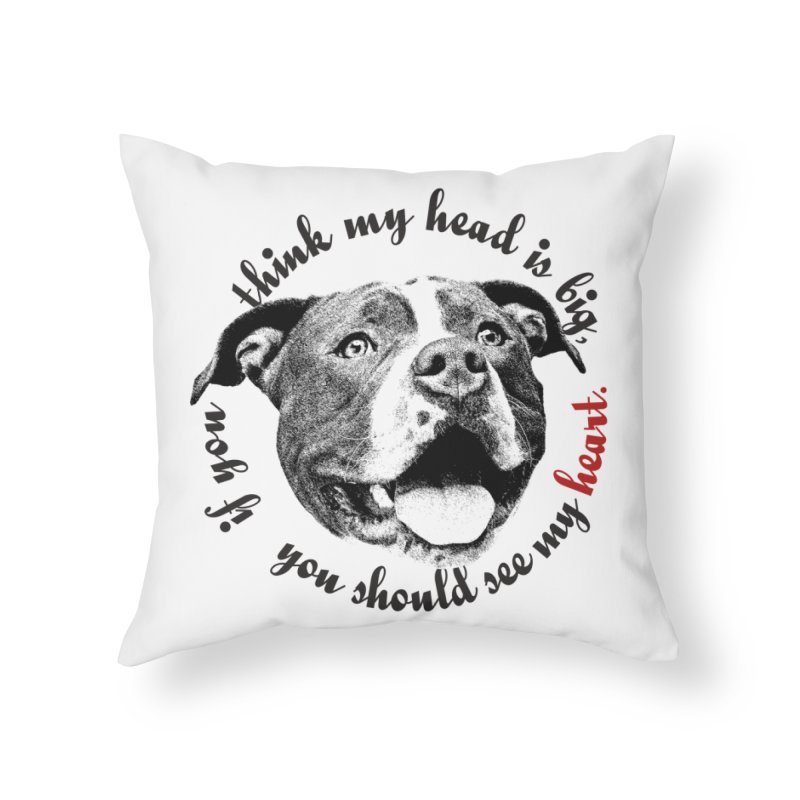 Beefy Bull Home Throw Pillow by Pittie Chicks