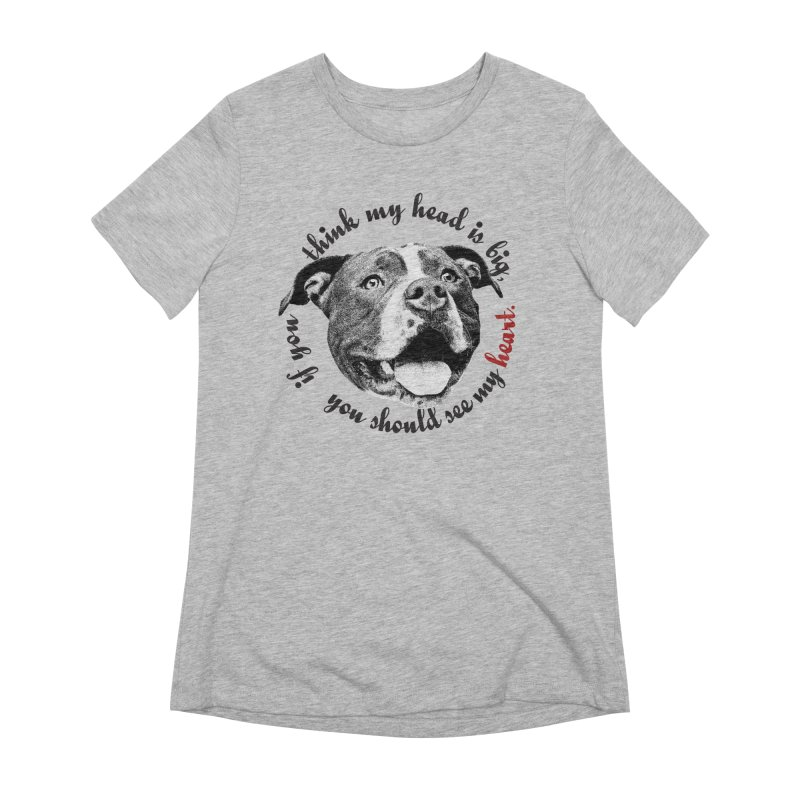Beefy Bull in Women's Extra Soft T-Shirt Heather Grey by Pittie Chicks