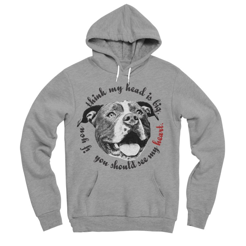 Beefy Bull Men's Sponge Fleece Pullover Hoody by Pittie Chicks