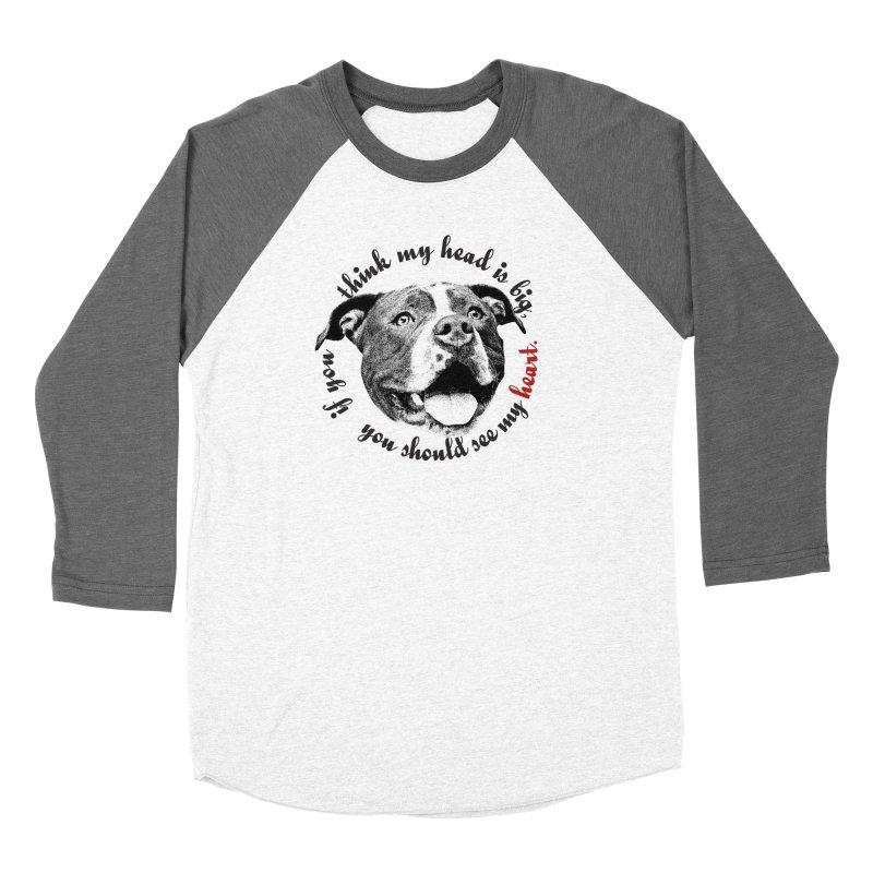 Beefy Bull Women's Baseball Triblend Longsleeve T-Shirt by Pittie Chicks