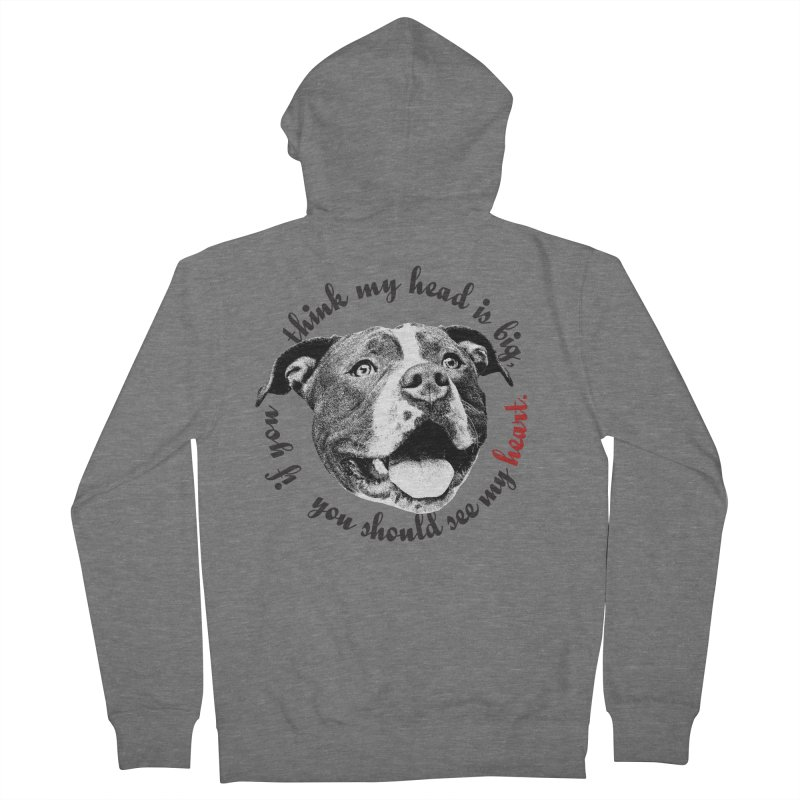 Beefy Bull Men's French Terry Zip-Up Hoody by Pittie Chicks