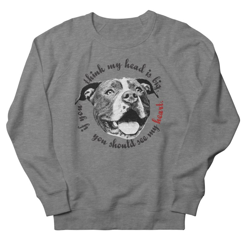 Beefy Bull Men's French Terry Sweatshirt by Pittie Chicks